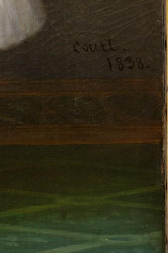 Paintings & Drawings  - Joseph-Désiré Court (1797 - 1865) - Portrait of Madame de Villeneuve Bargemon and her daughter