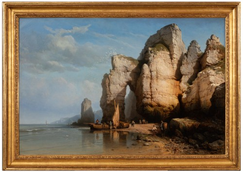 The Cliffs of Flamborough Head - Charles Joseph Kuwasseg (1802 - 1877)