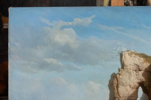 Paintings & Drawings  -  The Cliffs of Flamborough Head - Charles Joseph Kuwasseg (1802 - 1877)