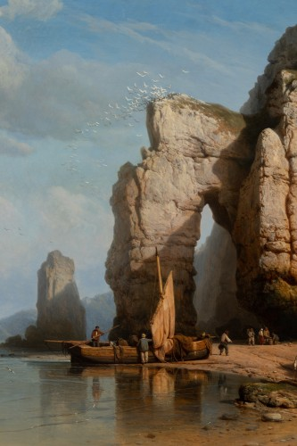 Antiquités - Falaises de Flamborough Head - Charles Joseph Kuwasseg (1802 - 1877)