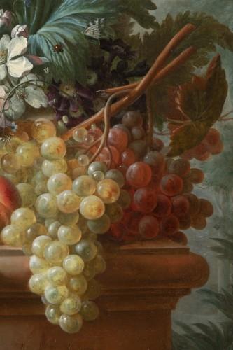 Antiquités - Francois-Nicolas Laurent (1780- 1828) - Vase of flowers and fruits on an entablature
