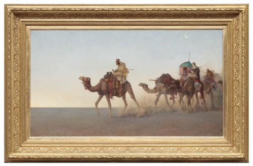 Henrik Ankarcrona (1831 - 1917) -  Caravan in the desert