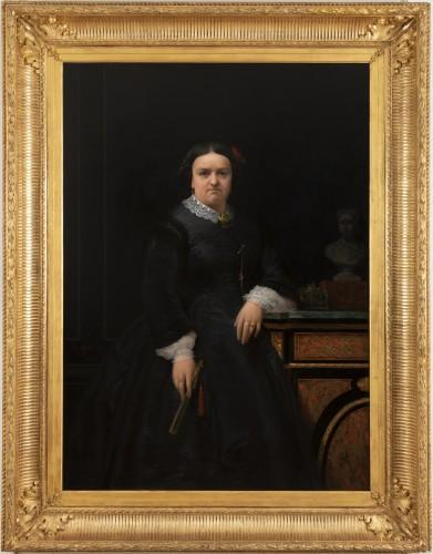Marie jules QUANTIN (1810-1884)  - Portrait of Marie clementine Chevigné