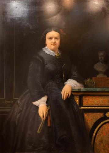 Paintings & Drawings  - Marie jules QUANTIN (1810-1884)  - Portrait of Marie clementine Chevigné