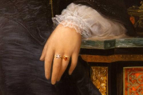 19th century - Marie jules QUANTIN (1810-1884)  - Portrait of Marie clementine Chevigné