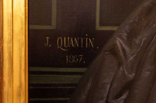 Antiquités - Marie jules QUANTIN (1810-1884)  - Portrait of Marie clementine Chevigné