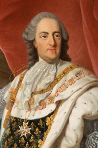 Portrait of Louis XV in coronation attire, french school of the 9th century -