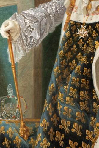 18th century - Portrait of Louis XV in coronation attire, french school of the 9th century