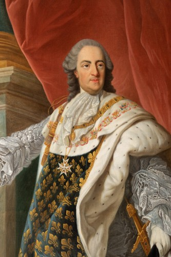 - Portrait of Louis XV in coronation attire, french school of the 9th century