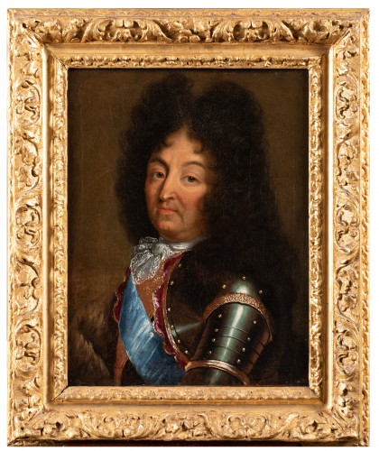Portrait of Louis XIV - French school circa 1700