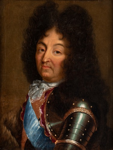 Portrait of Louis XIV - French school circa 1700 - Paintings & Drawings Style