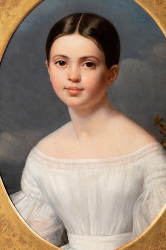 Louise Pauline Julie Volpeliere (1783- 1842)  - Presumed portrait of Aglaé Françoise Lebe Gigun - Paintings & Drawings Style