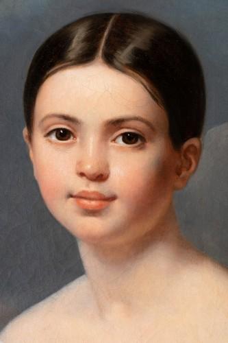 Paintings & Drawings  - Louise Pauline Julie Volpeliere (1783- 1842)  - Presumed portrait of Aglaé Françoise Lebe Gigun