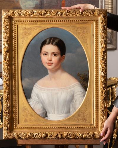 19th century - Louise Pauline Julie Volpeliere (1783- 1842)  - Presumed portrait of Aglaé Françoise Lebe Gigun