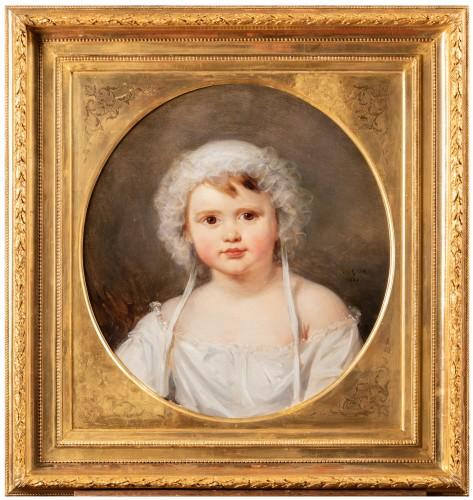 Portrait of Aglaé Françoise Lebe Gigun - Nicolas Gosse  (1787- 1878)