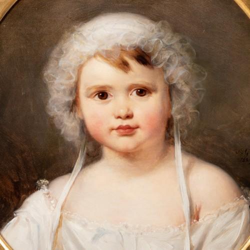 Portrait of Aglaé Françoise Lebe Gigun - Nicolas Gosse  (1787- 1878) - Paintings & Drawings Style