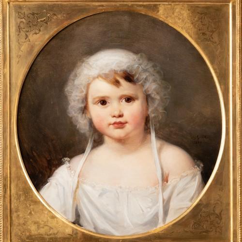 Paintings & Drawings  - Portrait of Aglaé Françoise Lebe Gigun - Nicolas Gosse  (1787- 1878)