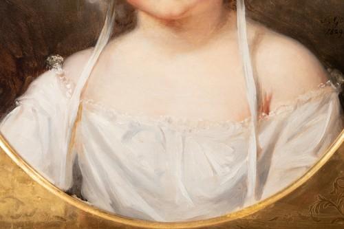 Portrait of Aglaé Françoise Lebe Gigun - Nicolas Gosse  (1787- 1878) -