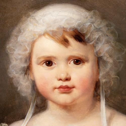 19th century - Portrait of Aglaé Françoise Lebe Gigun - Nicolas Gosse  (1787- 1878)