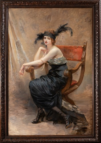 Woman seated - Madeleine-Jeanne Lemaire (1845-1928)