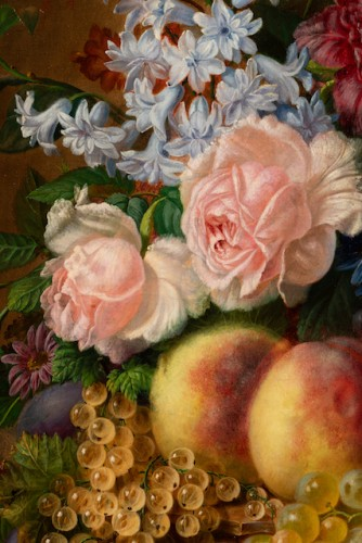 Virginie de Sartorius (1828-1908) - Still life with bouquet and fruits -