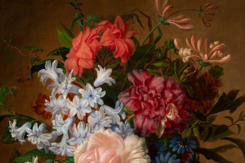 - Virginie de Sartorius (1828-1908) - Still life with bouquet and fruits