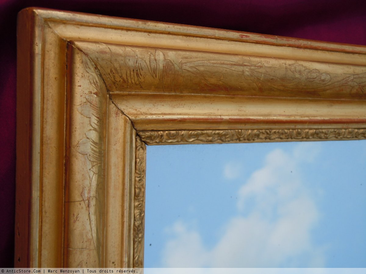 Miroir ancien angles vifs marc menzoyan for Marc miroir kraft