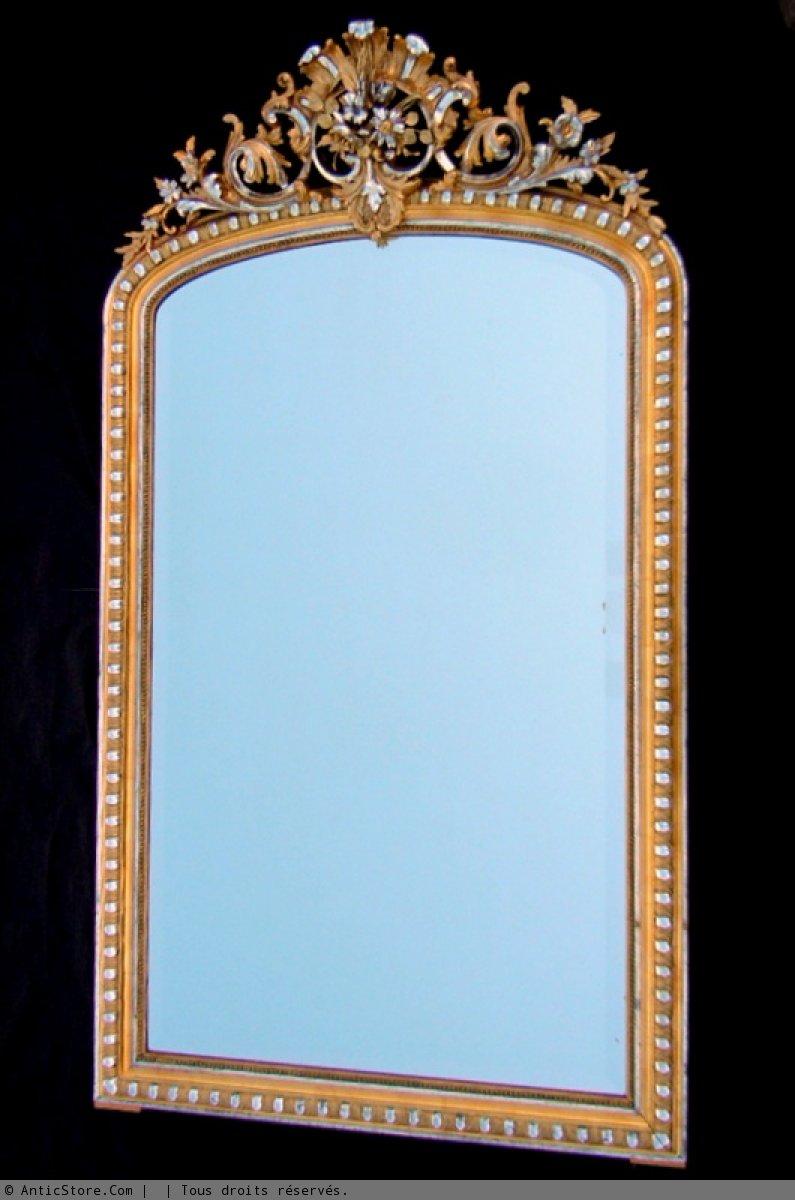 Miroir ancien fronton anticstore antiquit s 19 me for Miroirs anciens