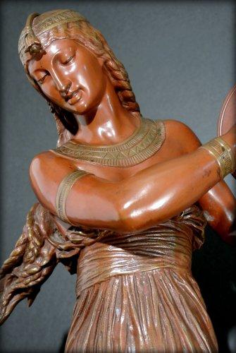 "Sculpture  - ""egyptian dancer"" by arthur bourgeois"