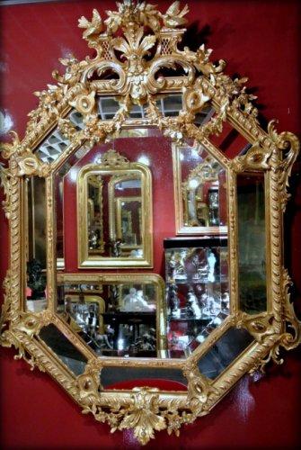A Napoléon III gilt mirror