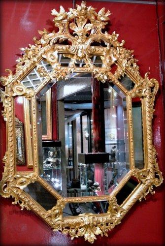 A Napoléon III gilt mirror - Mirrors, Trumeau Style Napoléon III