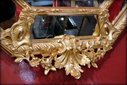 Mirrors, Trumeau  - A Napoléon III gilt mirror