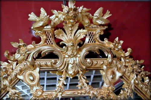 A Napoléon III gilt mirror -