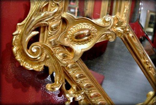 19th century - A Napoléon III gilt mirror