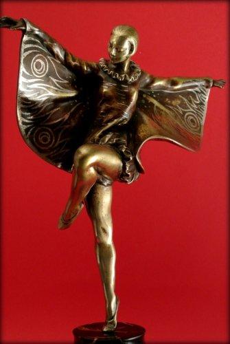 """Sculpture  - Dancer """"butterfly"""" art deco"""