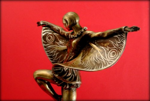 "20th century - Dancer ""butterfly"" art deco"