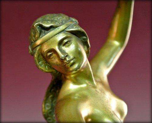 Bronze danser in art deco style signed morin - Art Déco