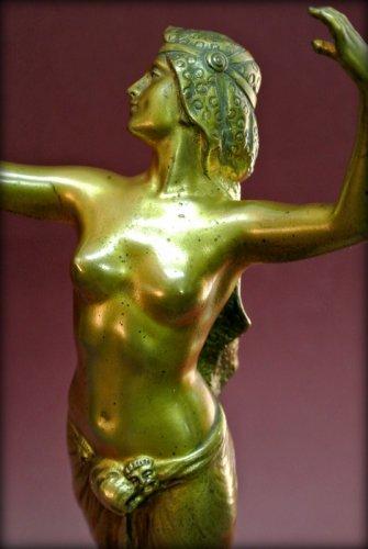 Art Déco - Bronze danser in art deco style signed morin