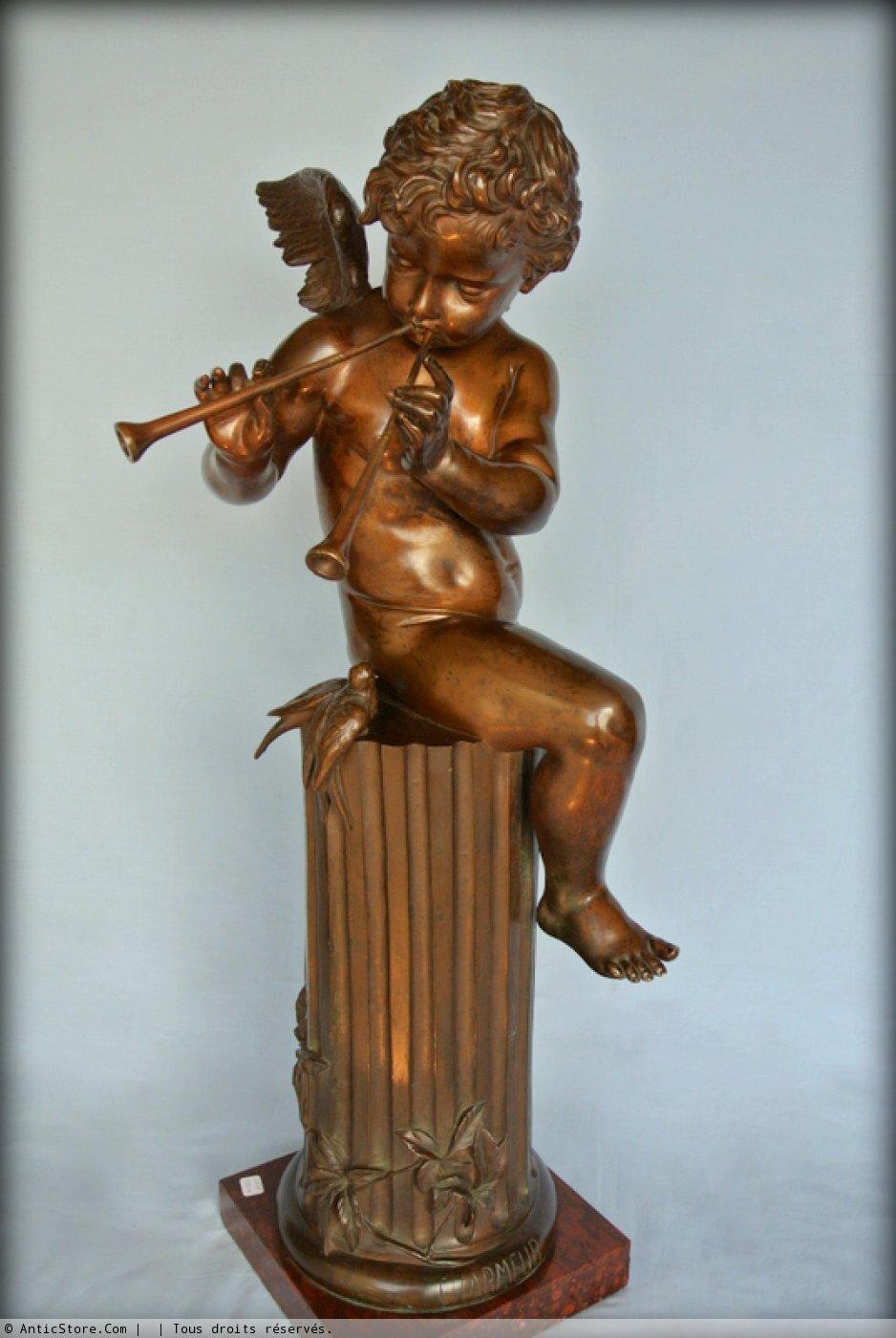 Bronze Statue Musician Amour Ref 23749
