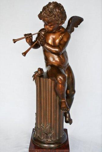 Bronze statue, musician amour