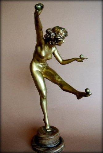 The juggler - Claire Jeanne Roberte Colinet (1880-1950) - Sculpture Style Art Déco