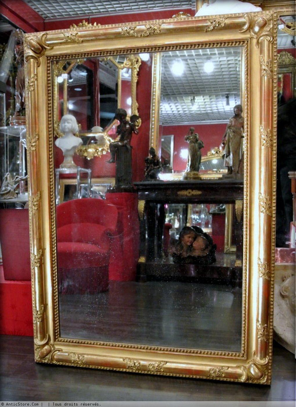 Miroir restauration dor la feuille d 39 or xixe si cle for Miroir xix siecle