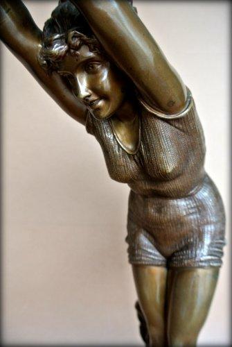 Bronze figure - Odoardo Tabacchi (1831-1905) - Art nouveau