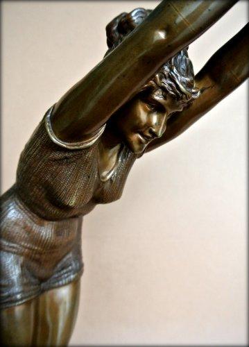 Art nouveau - Bronze figure - Odoardo Tabacchi (1831-1905)