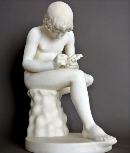Spinario carrara marble