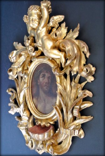 Louis XV - A XVIIIth century giltwood holy water stoup
