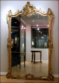Large Louis XV giltwood mirror