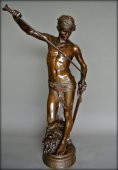 """David"" bronze figure by Antonin Mercié"