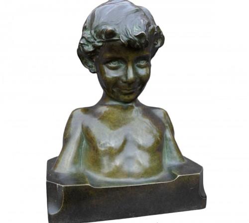 Statue signed j. camus