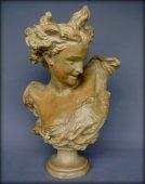 "Terracotta bust ""The genius of dance"""